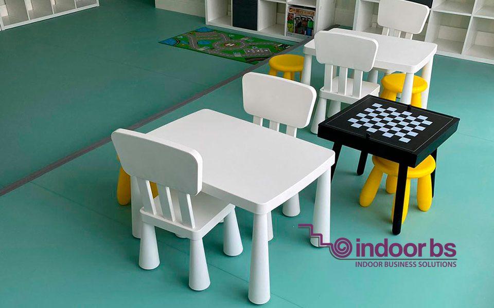 Indoor-Business-Solutions-Loc-de-joaca-și-sala-Fitness-covor-Pvc-,-plinta-și-tapet-300-mp
